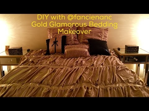 DIY with @fancienanc Glamorous Gold Bedding Makeover