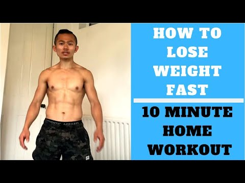 How to lose weight fast | 10 minute body weight workout at home