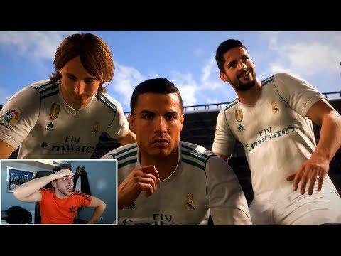 REACCIONANDO AL NUEVO TRAILER DE FIFA 18 !!