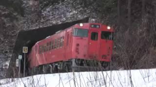 2017/03/23撮影。次は三厩駅にも立ち寄り、その途中でキハ40形を撮影し...