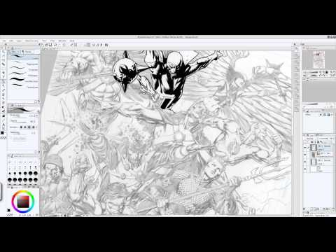 Digital Inking : Dave Finch -Brightest Day- pencils