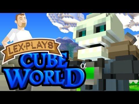 Lex Plays: Cube World Alpha - Level 100 Undead Rogue Ninja