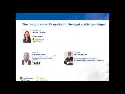 SolarPower Webinar:  The on-grid solar PV market in Senegal and Mozambique