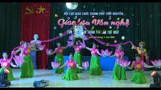 Múa Hoa sen Tháp Mười - biểu diễn hội cựu giáo chức phường Gia Sàng TPThái Nguyên