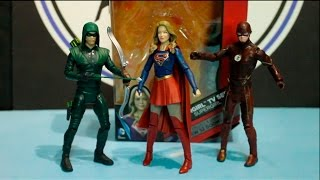 unboxing supergirl the flash and green arrow from the dc tv arrowverse on the cw