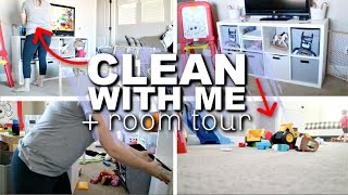 CLEAN WITH ME & ROOM TOUR | KIDS PLAYROOM