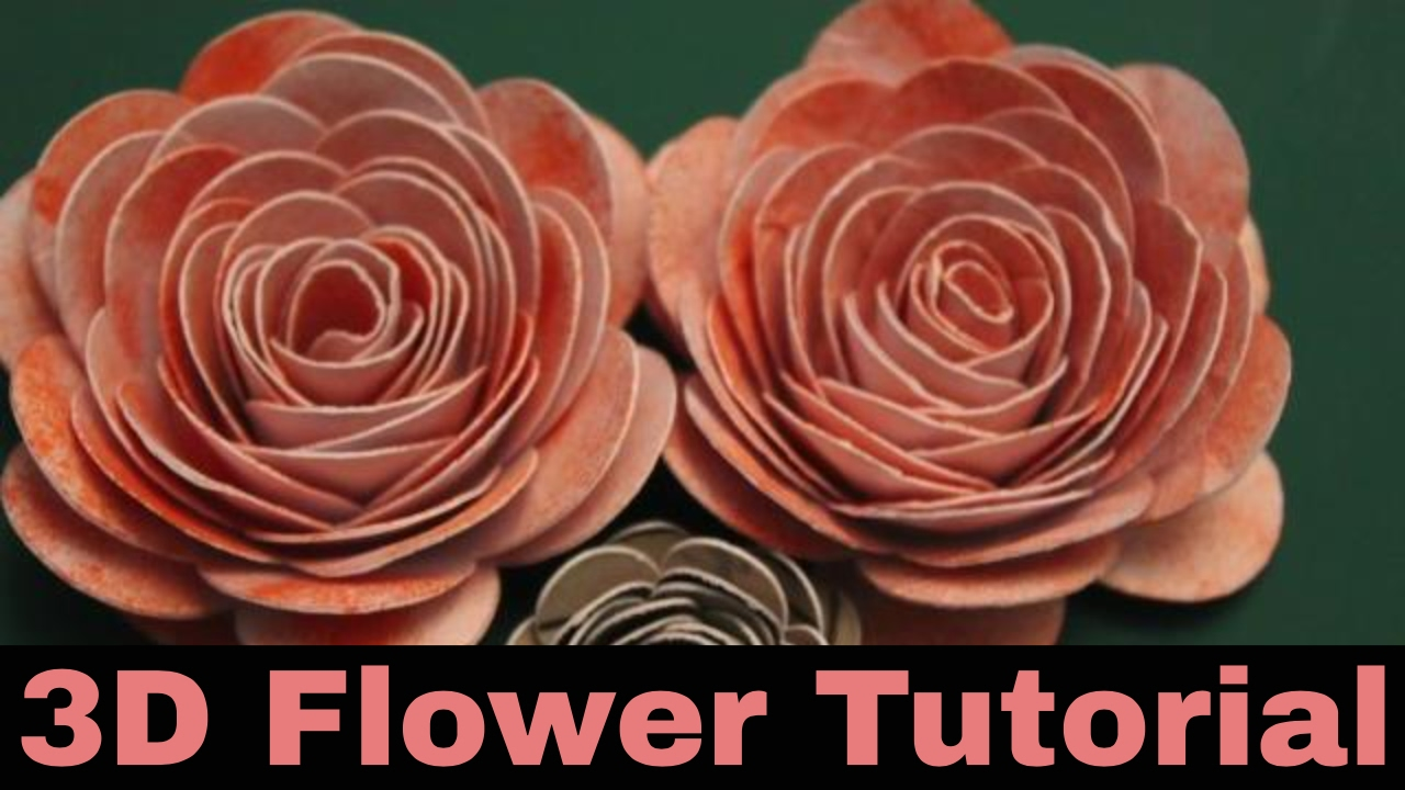 3d Flower Tutorial How To Make 3d Roses From Card Spiral Image