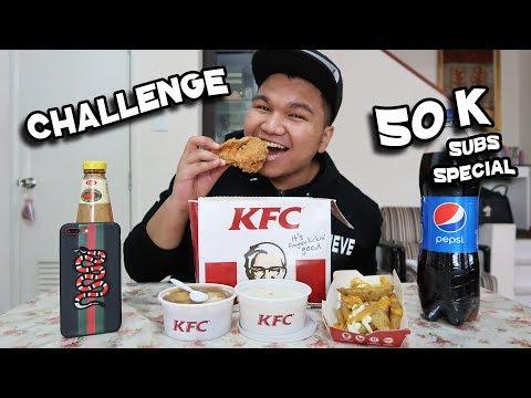 KFC Bucket 9x Piece Challenge (50,000 Subcribers Special) (Malaysia)
