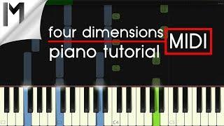 Four Dimensions ~ Ludovico Einaudi ~ ORIGINAL Piano Tutorial [MIDI/Synthesia]