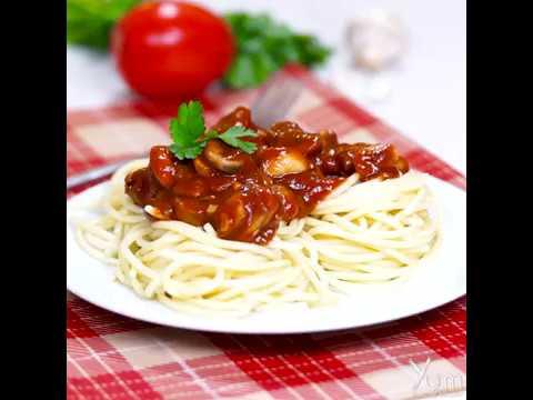 Tomato Spaghetti With Mushrooms |  Tomato Spaghetti with Mushrooms Recipe