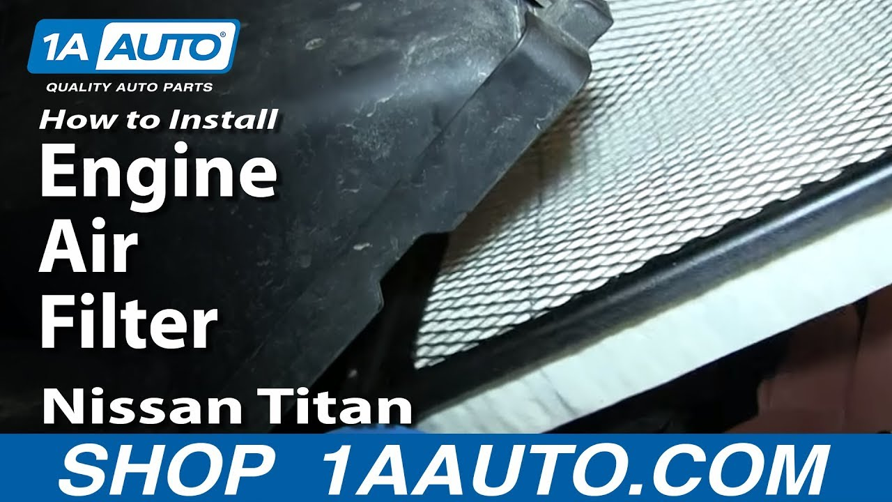 How To Replace Engine Air Filter 04-12 Nissan Titan