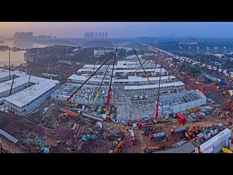 Time lapse video: Construction of Wuhan Huoshenshan Hospital completed