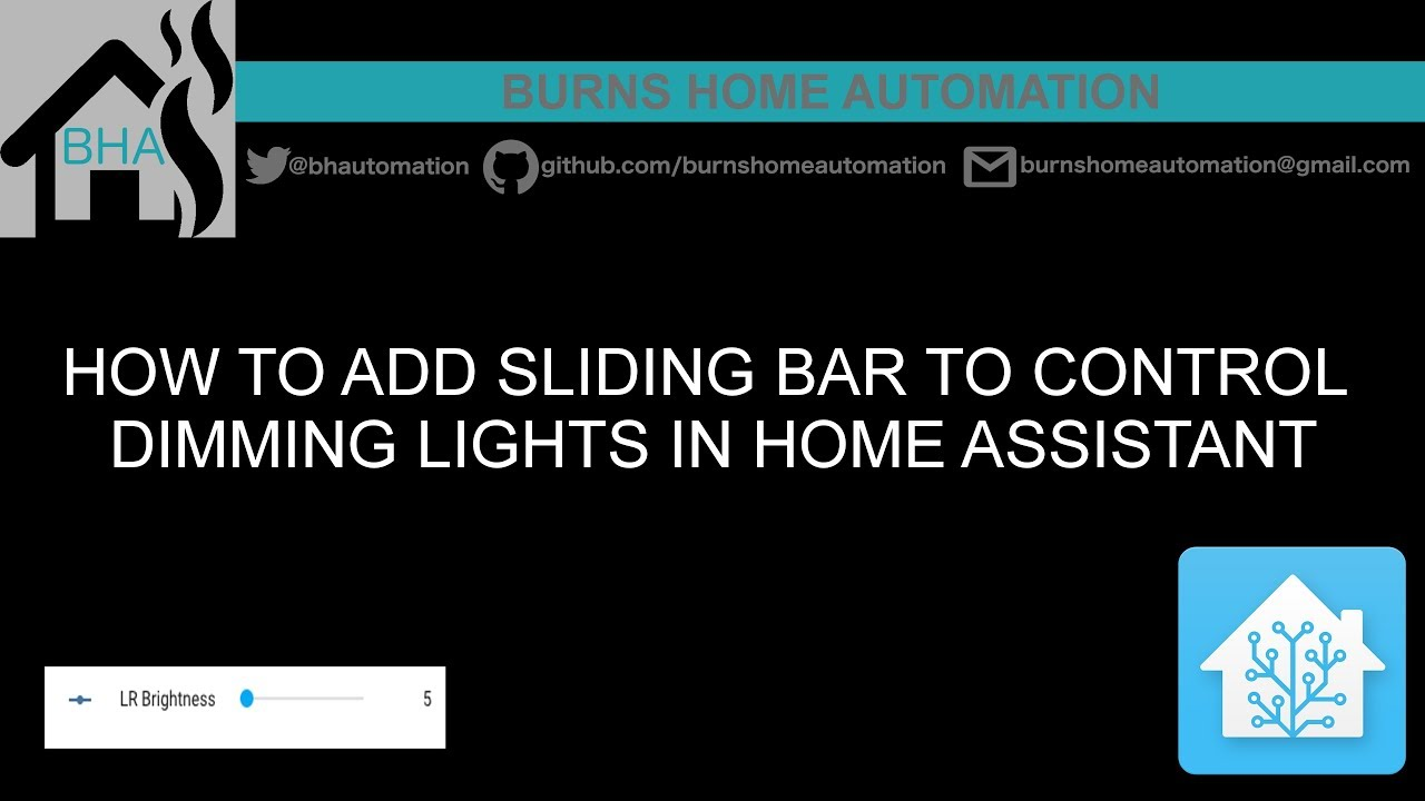 How to add sliding bar to control dimming lights in Home Assistant