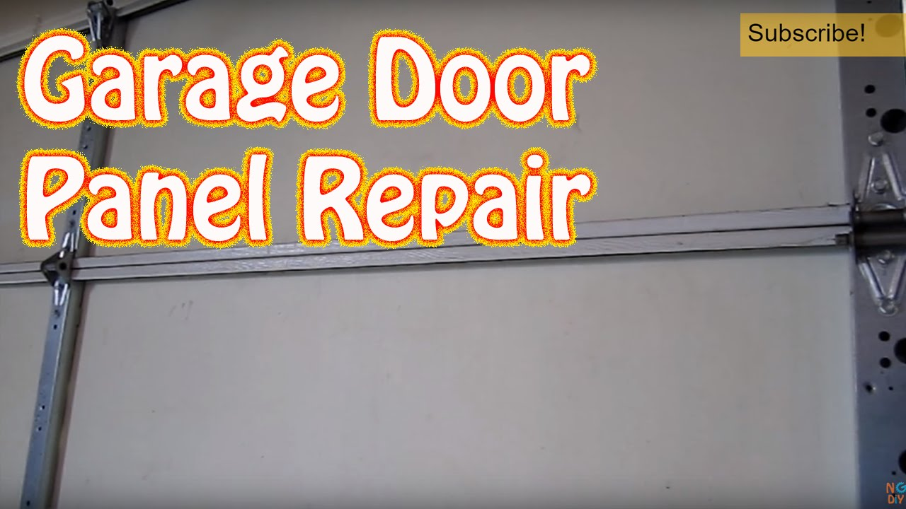DIY   How To Repair Or Replace A Single Garage Door Panel   Damaged Garage  Door Panel