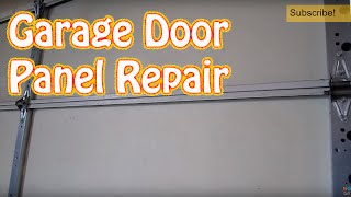 Diy - How To Repair Or Replace A Single Garage Door Panel - Damaged Garage Door Panel