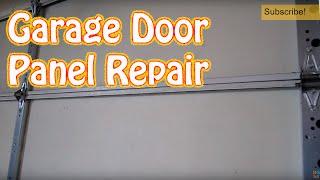 Diy - How To Repair Or Replace A Single Garage Door Panel - Damaged Garage Door Panel