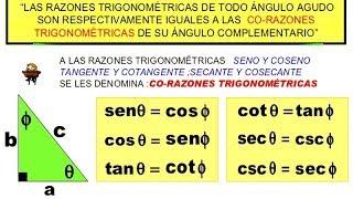 Razones Trigonométricas Propiedades Complementarias Ejercicios Resueltos Nivel 1 Trigonometría Matem