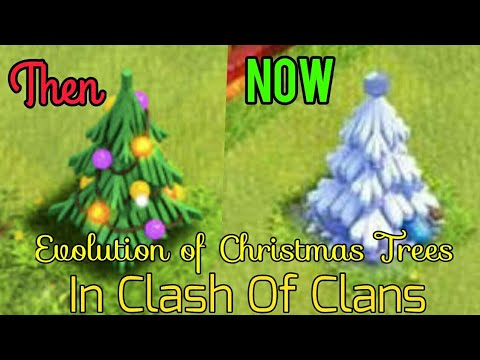 All Coc Christmas Trees.Evolution Of Christmas Trees In Clash Of Clans From 2012 2017