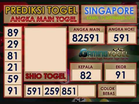 Prediksi Togel Singapore Kamis  Youtube