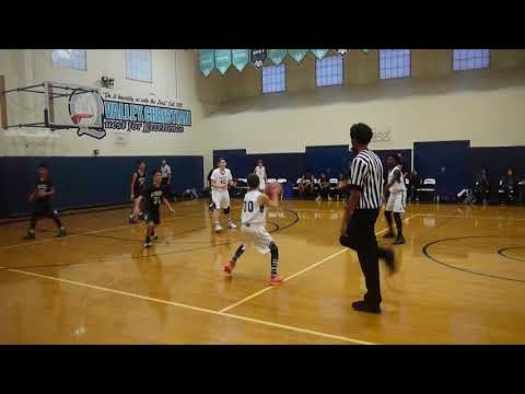 League Game 1 vs Russell Middle - Valley Christian 8th grade boys basketball 2017 18