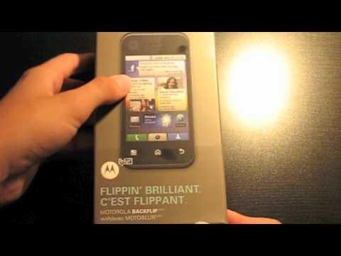 Motorola Backflip Unboxing