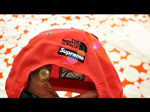 9e454000caf7e Trying on SUPREME X NORTH FACE STEEP TECK CAP