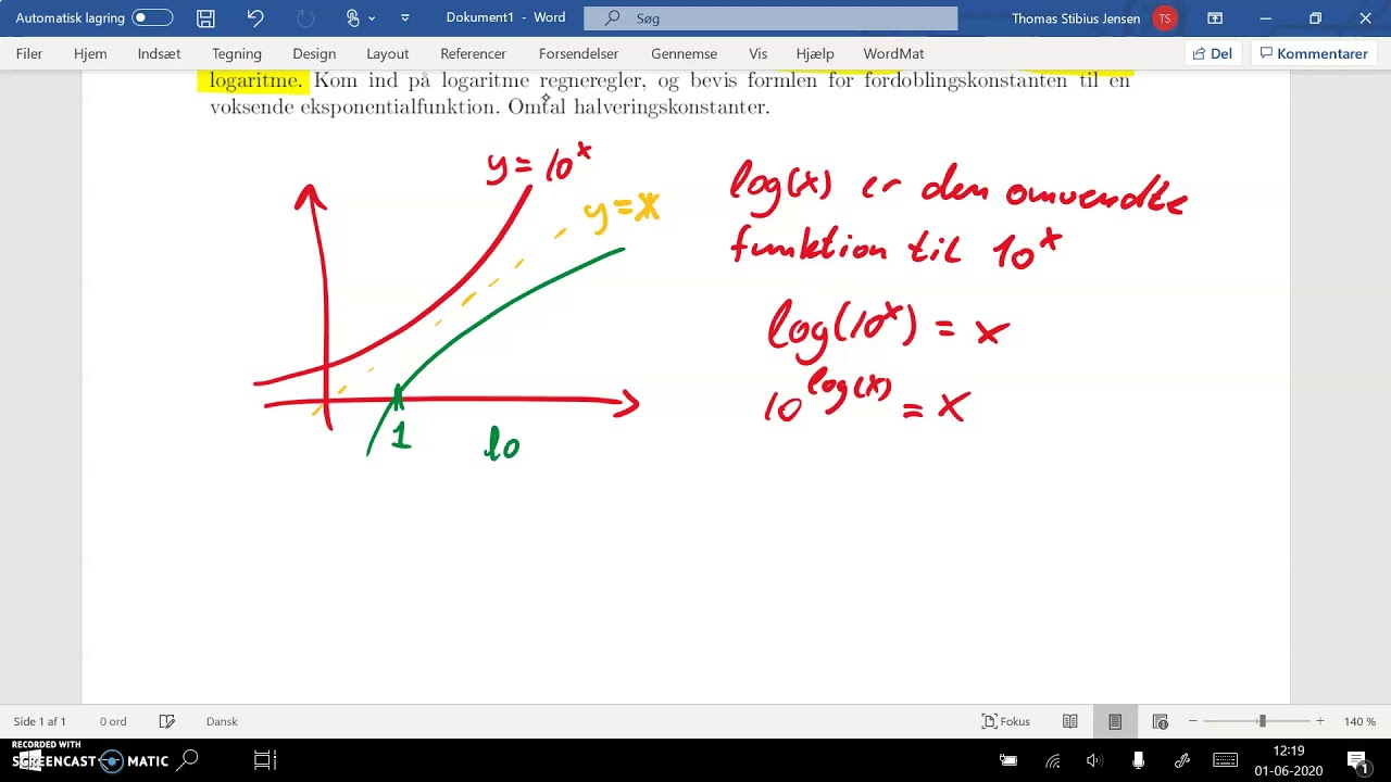 spg2 del1 definition logaritme