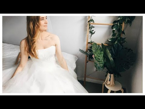 Trying Aliexpress Wedding Dress Under