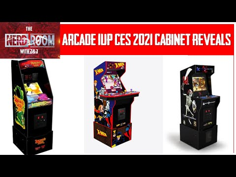 Arcade 1UP CES 2021 New Cabinet Reveals! from The Nerd Room With J and J