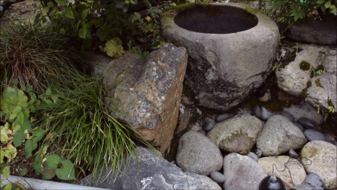 金剛寺の住職自作の水琴窟 - YouTube