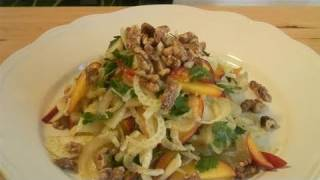 How To Prepare Fennel Peach And Walnut Salad