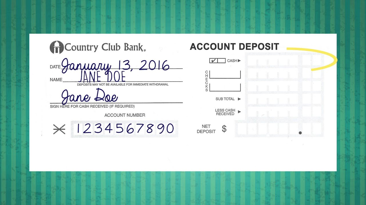 How to Deposit A Check - YouTube
