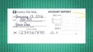 How to Deposit A Check