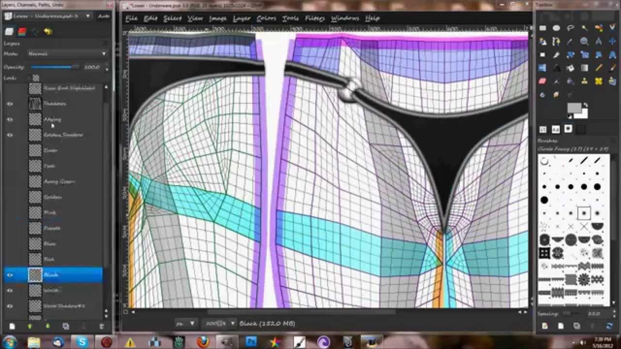 becky panties template tutorial youtube