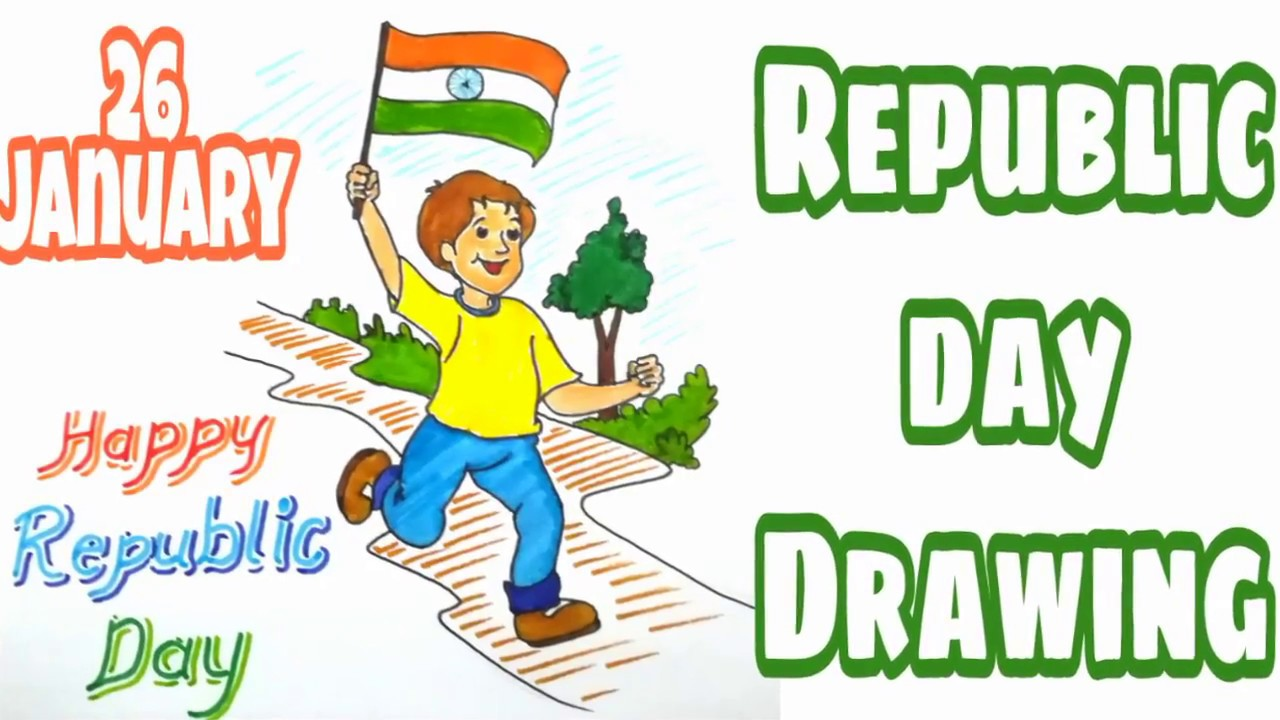 Drawing For Republic Day How To Draw Republic Day Republic Day