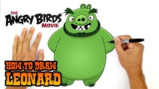 How to Draw Leonard (The Angry Birds Movie)- Kids Art Lesson