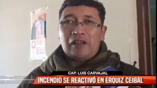 INCENDIO SE REACTIVÓ EN ERQUIZ CEIBAL