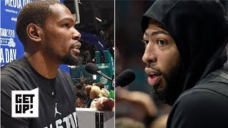 Anthony Davis and Kevin Durant handling pending free agency very differently | Get Up!