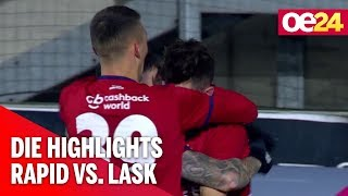 SK Rapid gegen LASK: Die Highlights