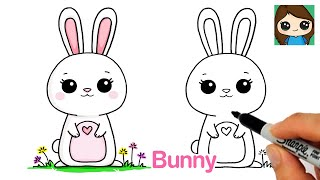 How to Draw a Bunny Easy  Spring