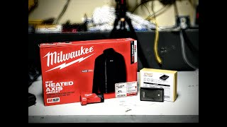2019 Milwaukee M12 Heated Axis Jacket Review and Unboxing + Battery TRICK
