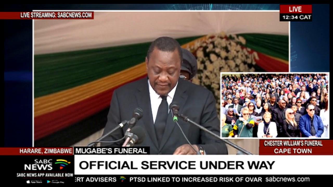 Kenya's President Uhuru Kenyatta pays tribute to Mugabe
