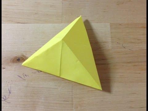 ハート 折り紙:折り紙 三角 立体-youtube.com