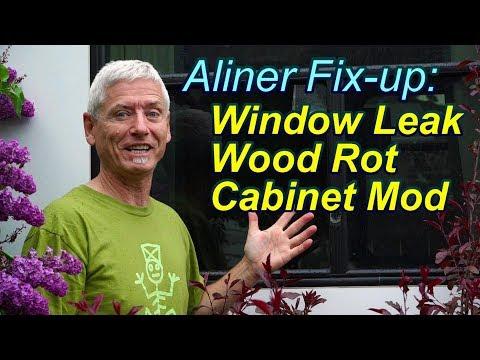 Aliner Fixup: Window Leak, Wood Rot & Cabinet Mod