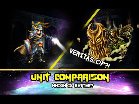 Final Fantasy Brave Exvius - Veritas of Earth OP?! Comparison with Warrior of Light