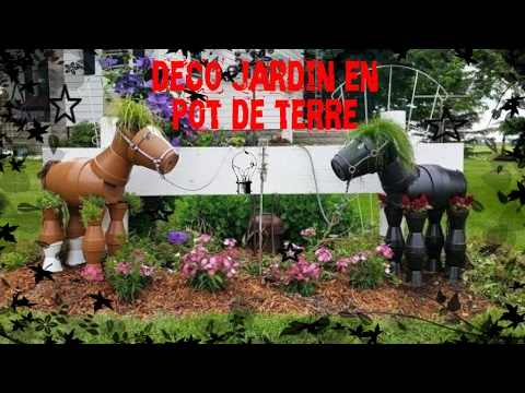 d co jardin diy 50 id es pour int grer les pots en terre. Black Bedroom Furniture Sets. Home Design Ideas