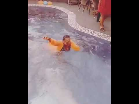 Uche Jombo's 40th Birthday Party: Thrown Inside Pool By Ini Edo