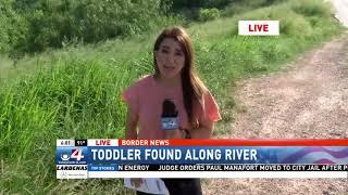 Toddler found along river