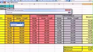 TP5 Microsoft Excel 2003 Bulletin des notes