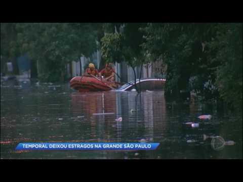 Forte temporal deixa estragos na grande São Paulo